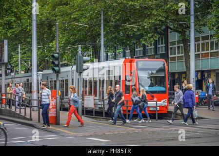 Haltestelle KVB, Zuelpicher Platz, Koeln, Nordrhein-Westfalen, Deutschland - Stock Photo