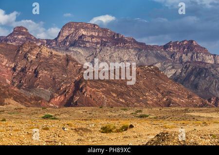 Road from Nuweiba to Taba, Sinai peninsula, Egypt - Stock Photo