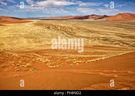view from the une 45 near sossusvlei & sesriem - Stock Photo
