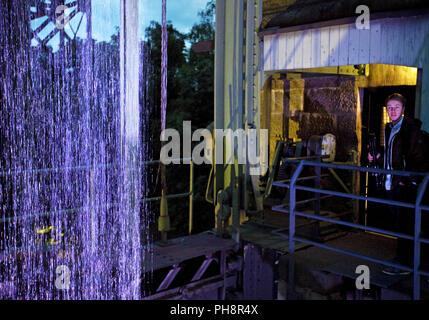 old Henrichenburg boat lift, event Extraschicht - Stock Photo