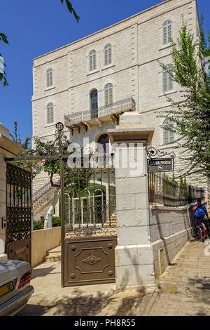 Israel, Lower Galilee, Nazareth. Casa Nova a pilgrims hostel - Stock Photo