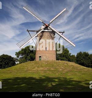 Geis Mill in Krefeld, Lower Rhine, Germany - Stock Photo