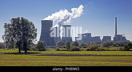 coal-fired power station Westfalen, Hamm - Stock Photo