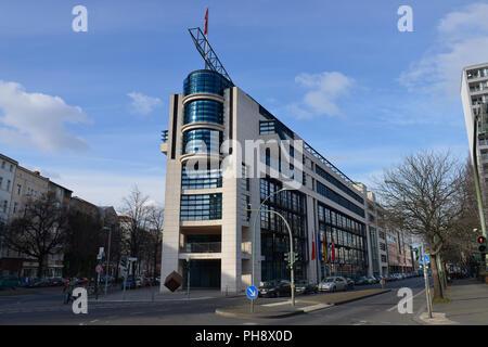Willy-Brandt-Haus, Stresemannstrasse, Kreuzberg, Mitte, Berlin, Deutschland - Stock Photo