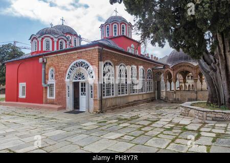 Monastery of Great Lavra, Mount Athos, Athos peninsula, Greece - Stock Photo