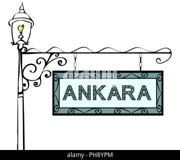 Ankara retro pointer lamppost. - Stock Photo
