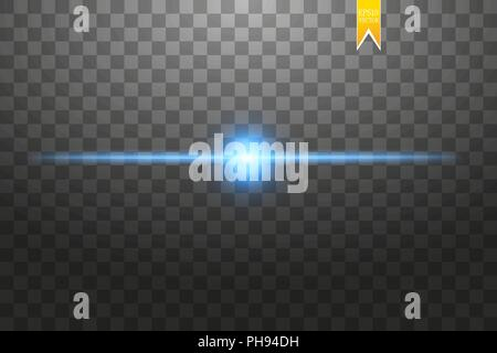 Creative concept Vector set of glow light effect stars bursts with sparkles isolated on black background. For illustration template art design, banner for Christmas celebrate, magic flash energy ray - Stock Photo