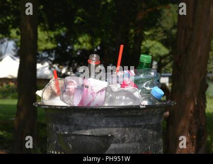 Plastic waste, single use - Stock Photo