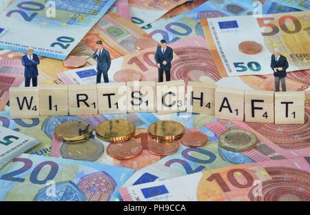 Symbolfoto Wirtschaftsbegriff Wirtschaft - Stock Photo