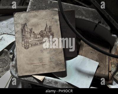 Old Schoolbook - Stock Photo