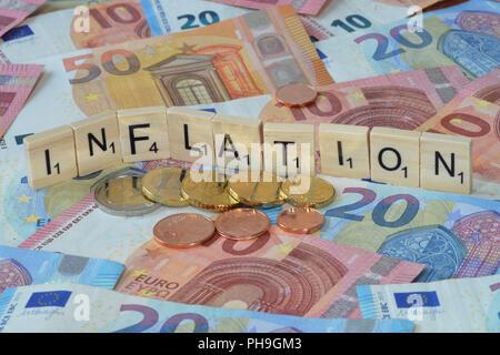 Symbolfoto Wirtschaftsbegriff Inflation - Stock Photo