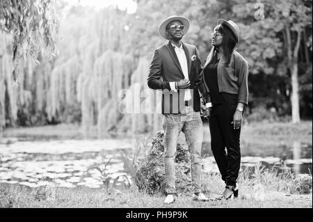 Rich and stylish african american couple - Stock Photo