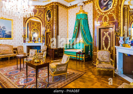 The King's Bedroom, Royal Castle in Plac Zamkowy (Castle Square), Old Town, Warsaw, Poland, Europe - Stock Photo