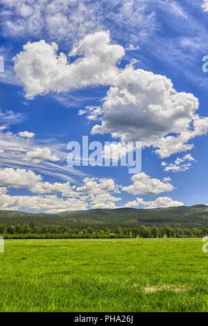 Big skies, Montana - Stock Photo