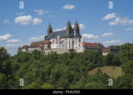 Comburg Castle in Steinbach, Baden-Wuerttemberg, Germany - Stock Photo