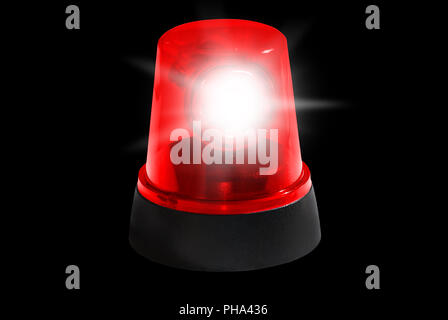 fire department, red light isolated - Stock Photo