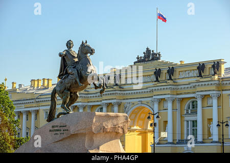 Statue of Peter the Great in St. Petersburg - Stock Photo