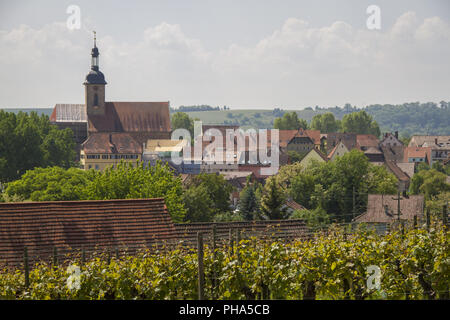 City of Lauffen in the Neckar valley, Germany - Stock Photo