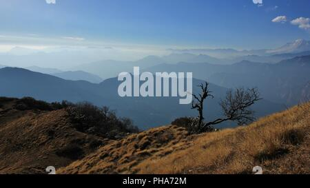 Scene on Muldhai hill, Annapurna Conservation Area, Nepal - Stock Photo
