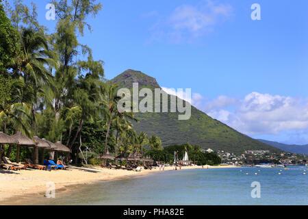 Mauritius, West coast, looking to Tourelle du Tamarin - Stock Photo