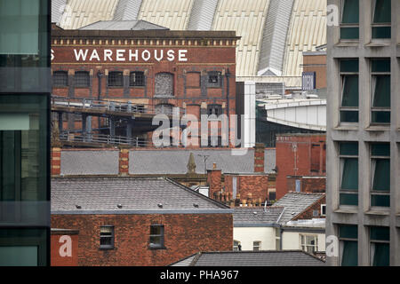 Grade II* listed Great Northern Warehouse  former railway goods warehouse  Great Northern Railway in Manchester city centre - Stock Photo