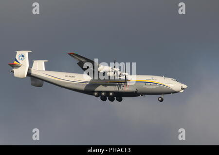 Antonov 22 of Antonov Airlines (Antonov Design Bureau). - Stock Photo