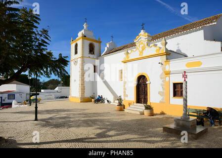 Motherchurch of Alvor, dating back to the 16th century. Portimao, Algarve. Portugal - Stock Photo