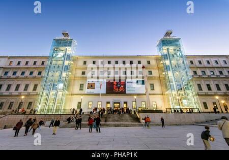Museo Nacional Centro de Arte Reina Sofia, Madrid. Spain - Stock Photo