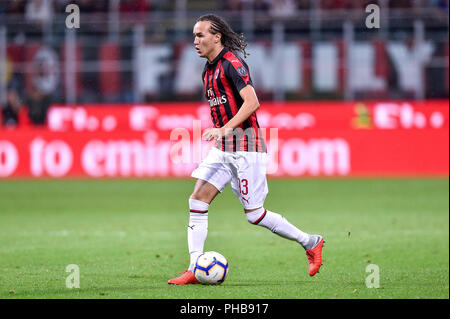 Milan, Italy. 31st August 2018. m93during the Serie A match between AC Milan and AS Roma at Stadio San Siro, Milan, Italy on 31 August 2018. Photo by Giuseppe Maffia. Credit: Giuseppe Maffia/Alamy Live News - Stock Photo