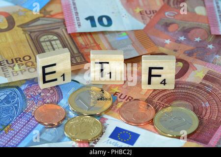 Symbolfoto Wirtschaftsbegriff ETF - Stock Photo