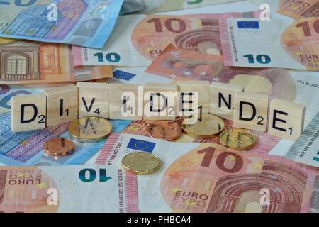 Symbolfoto Wirtschaftsbegriff Dividende - Stock Photo