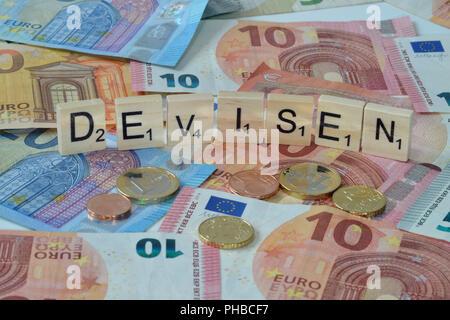 Symbolfoto Wirtschaftsbegriff Devisen - Stock Photo