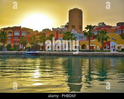 Yachten, Marina, Hurghada, Aegypten - Stock Photo