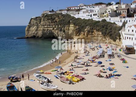 Beach/Praia do Carvoeiro, Carvoeiro, Felsalgarve, Portugal - Stock Photo
