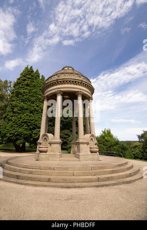 Barron's Fountain Roundhay Park,Leeds,West Yorkshire,England,erected in the memory of Alderman Barron. - Stock Photo