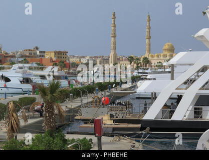 Yachten, Marina, Hurghada, Aegypten - Stock Photo