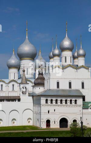 Resurrection of Christ Gate Church, Kremlin, Rostov Veliky, Golden Ring, Yaroslavl Oblast, Russia, Europe - Stock Photo