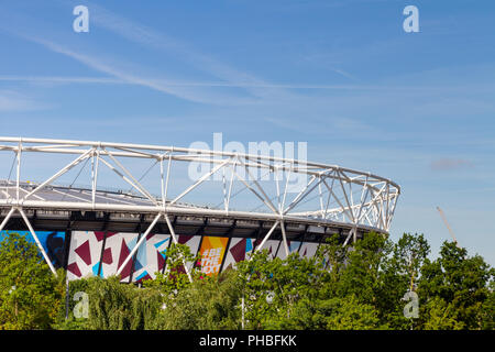 The Olympic Stadium in Queen Elizabeth Olympic Park, London, England.  The stadium is now home to West Ham United Football Cub.