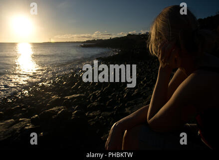Lanzarote in the Evening - Stock Photo