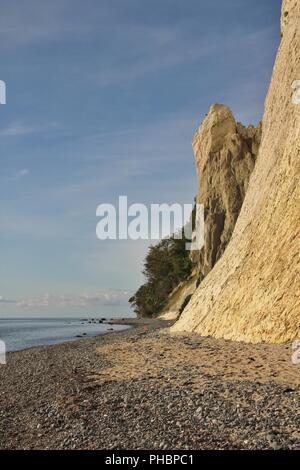 Rock formation at Moens Klint, Denmark. Stock Photo