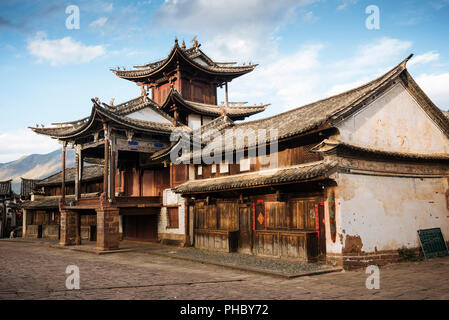 The Three Terraced Pavilion, Shaxi, Yunnan Province, China, Asia - Stock Photo