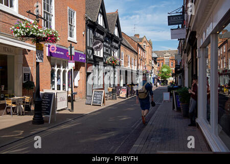 Fashionable independent shops on Loseby Lane, Leicester - Stock Photo
