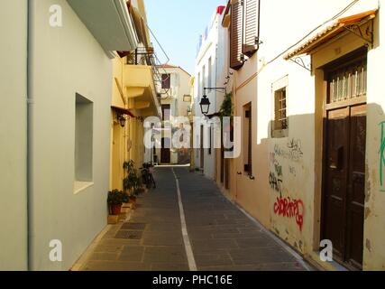 Gentle summer morning on a narrow street - Stock Photo