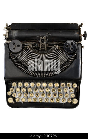 4238a5036b0 Russian Typewriter · vintage portable typewriter with Cyrillic letters -  Stock Photo