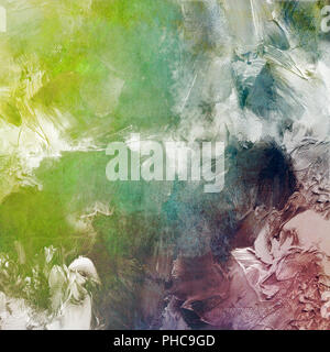 abstract mixed media artwork - Stock Photo