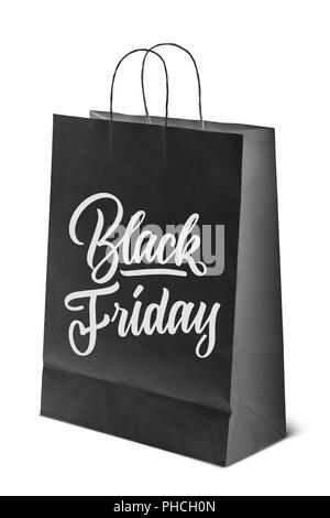 on paper bag inscription is black Friday - Stock Photo