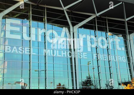 Basle, Terminalbuilding at the Euroairport Basel-Mulhouse-Freiburg - Stock Photo
