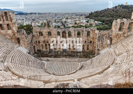 Odeon of Herodes Atticus (160s AD), Athens, Greece - Stock Photo