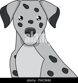 dalmatian dog icon over white background, vector illustration - Stock Photo