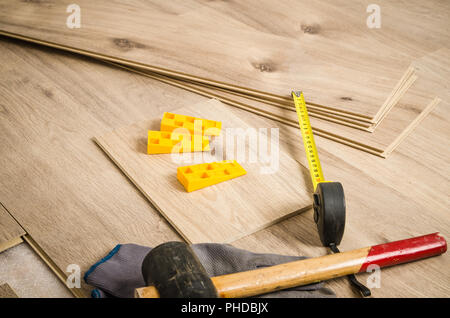 Carpenter's floor equipment - Stock Photo